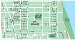 East Village NYC Map