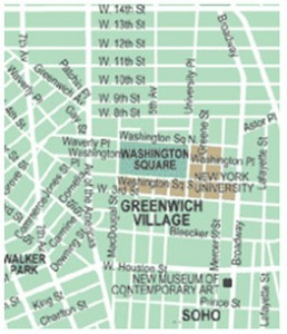 Greenwich Village NYC Map